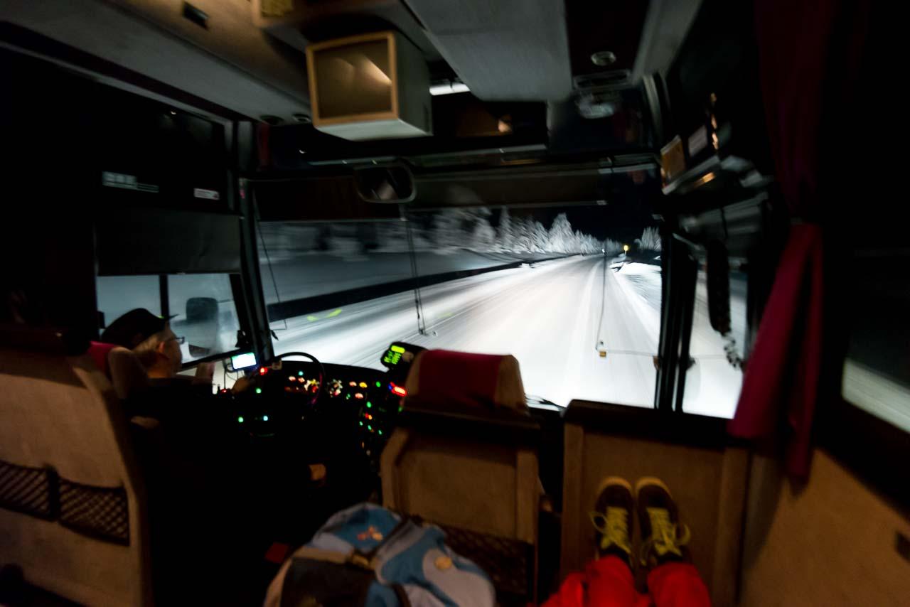 bus to äkäslompolo, one week ago