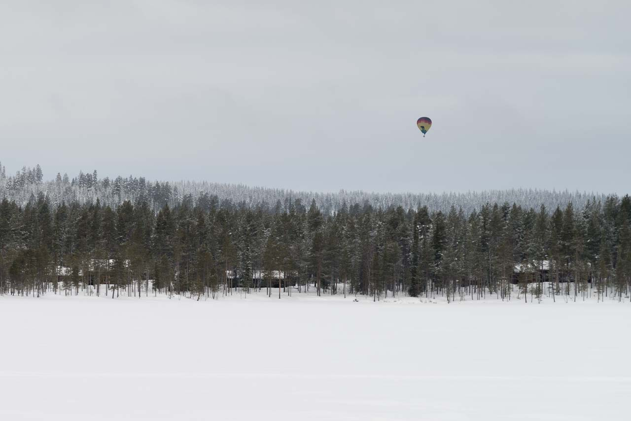 ballon over finnish forest, one week ago