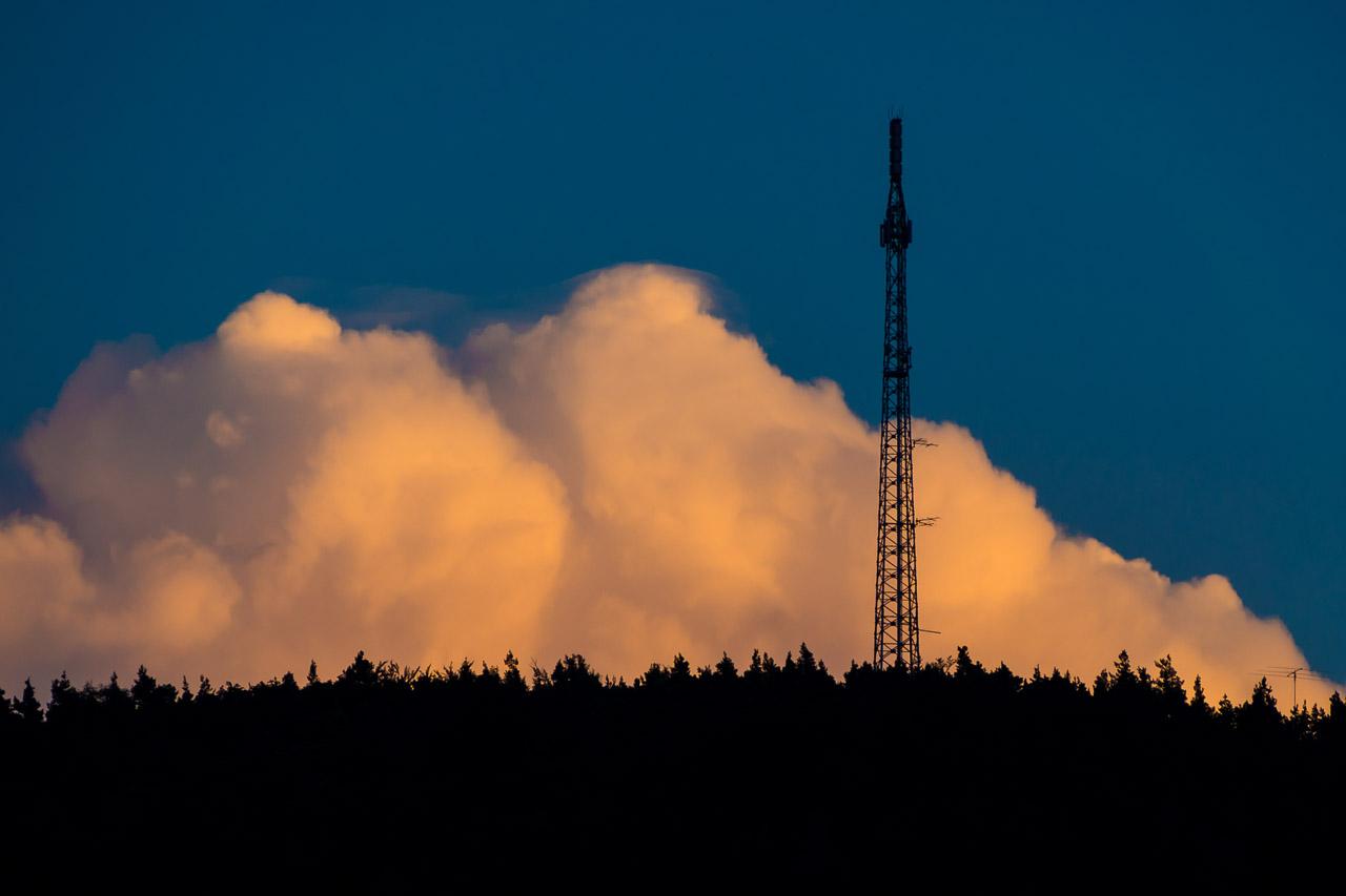 transmitting in evening light
