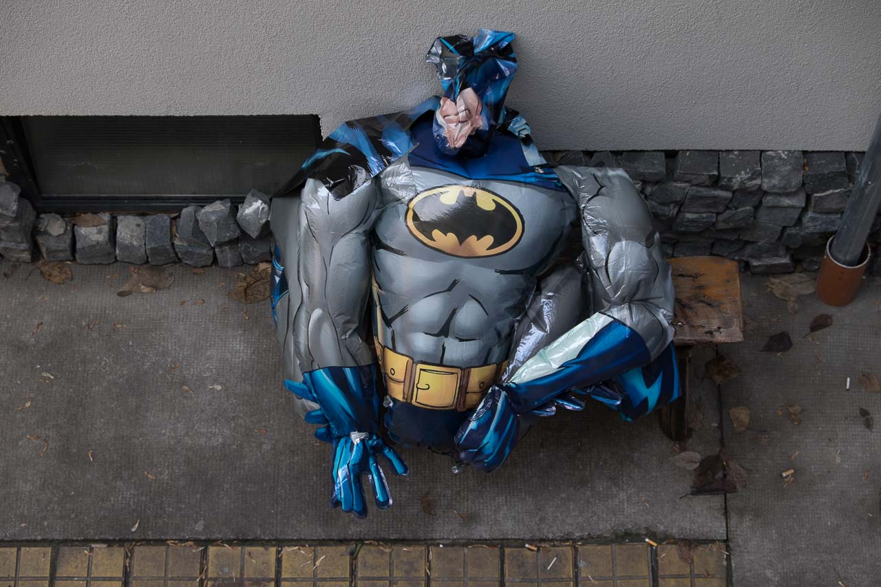 deflated super hero