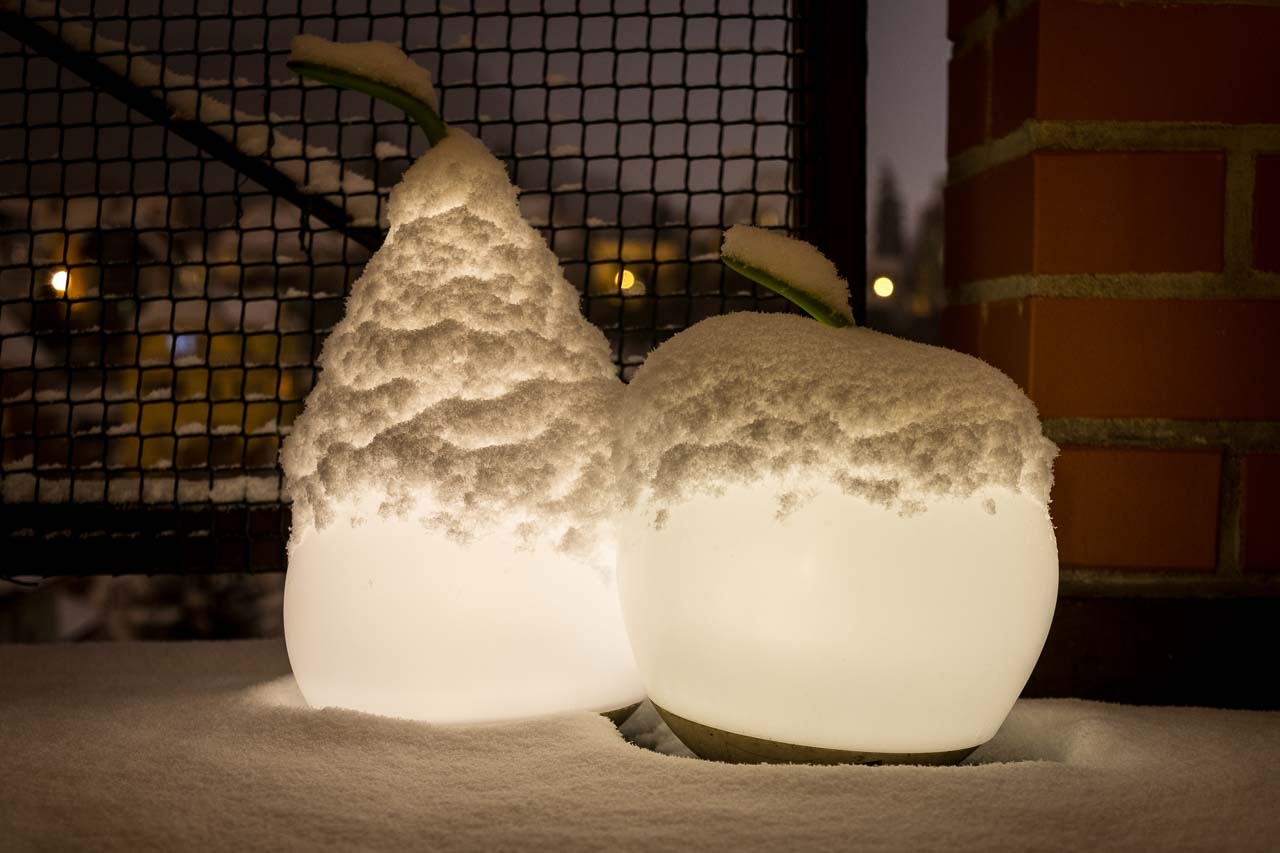 caps of snow
